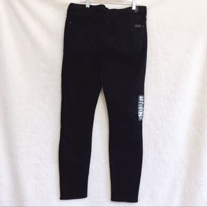 7 For All Mankind Black Gwen Skinny Ankle Jeans